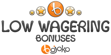Low wagering casino bonuses